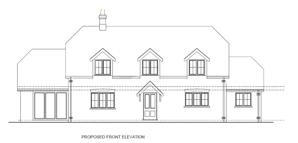 outline of proposed house plan