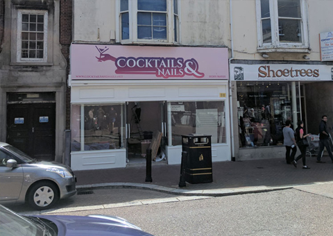 Change of use from a Grade II Listed A1 Shop to a Nail Salon in Weymouth