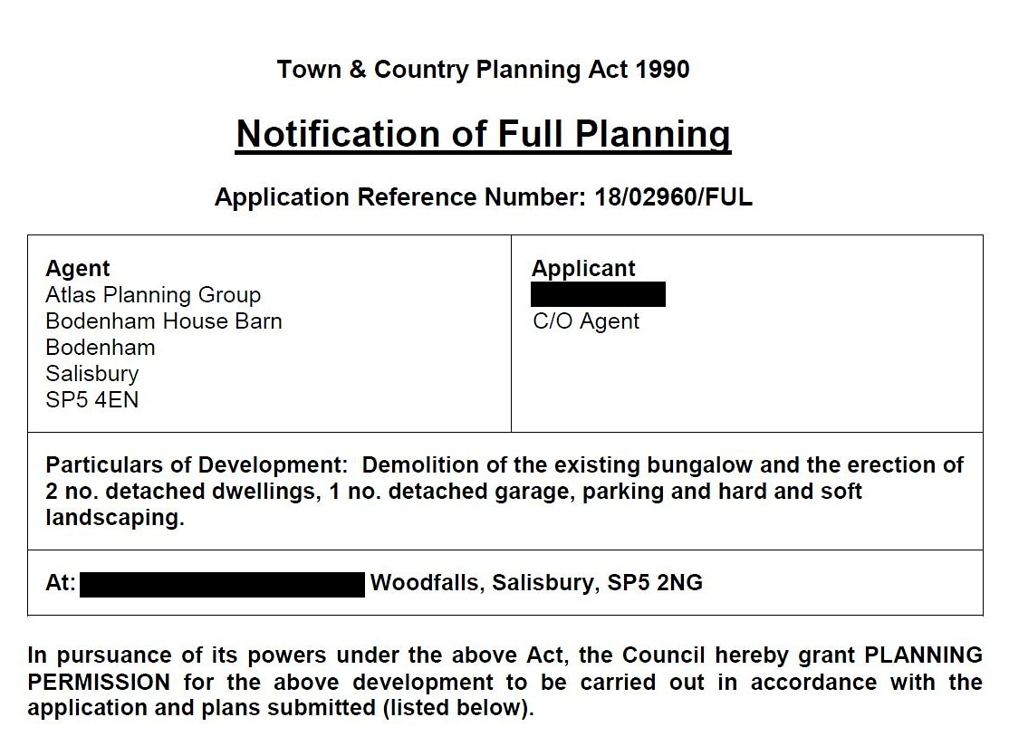 Planning Permission for Two New Homes Granted in Wiltshire